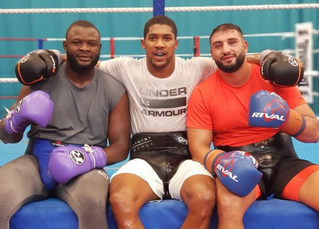 Anthony Joshua Reveals His Two Sparring Partners Ahead Of Povetkin Fight