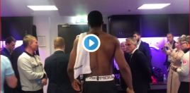 Anthony Joshua Shows Class Backstage With Povetkin Team After The Fight