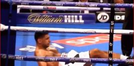 The Moment Vargas Knocked Amir Khan Down