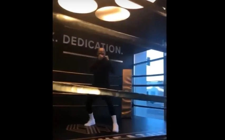 Watch: Floyd Mayweather Back In The Gym At 41