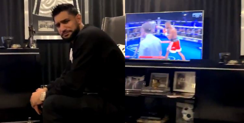 Amir Khan Reacts To Kell Brook's Win Over Michael Zerafa