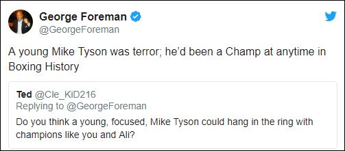 George Foreman's Response On If A Prime Mike Tyson Could Have Beat Him or Ali