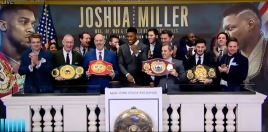 The Moment Anthony Joshua Rang The New York Stock Exchange Bell