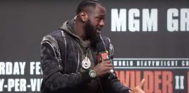 Deontay Wilder Reacts To Tyson Fury Claim He'll Knock Him Out In 2