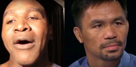 Evander Holyfield Brutally Honest With Manny Pacquiao