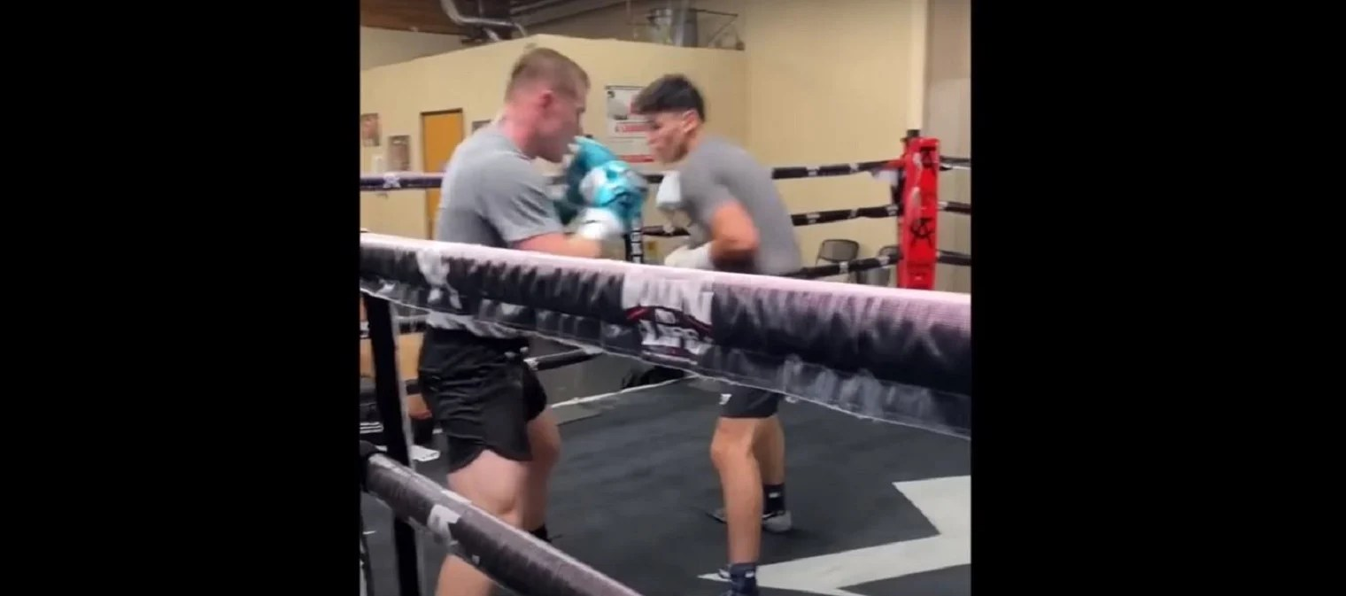 Watch: Canelo Puts Ryan Garcia Through His Paces For Luke Campbell