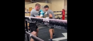 Canelo Puts Ryan Garcia Through His Paces For Luke Campbell