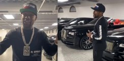 Watch Floyd Mayweather Shows Off Luxury Black Car Collection