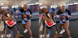 Mike Tyson Shows Roy Jones New Punch He Has For Their Fight