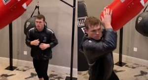 Canelo Shows Off Speed and Reflexes On Start Of Fight Week