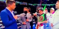 Watch: Canelo Tells Two Imposters Who Invaded The Ring To Get Lost