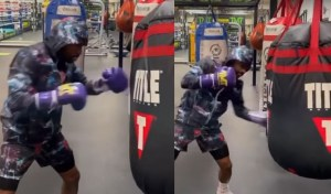 Mayweather back in the gym ahead of expected bout