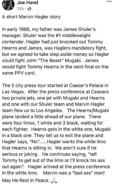 This Marvin Hagler Story Says It All About The Man