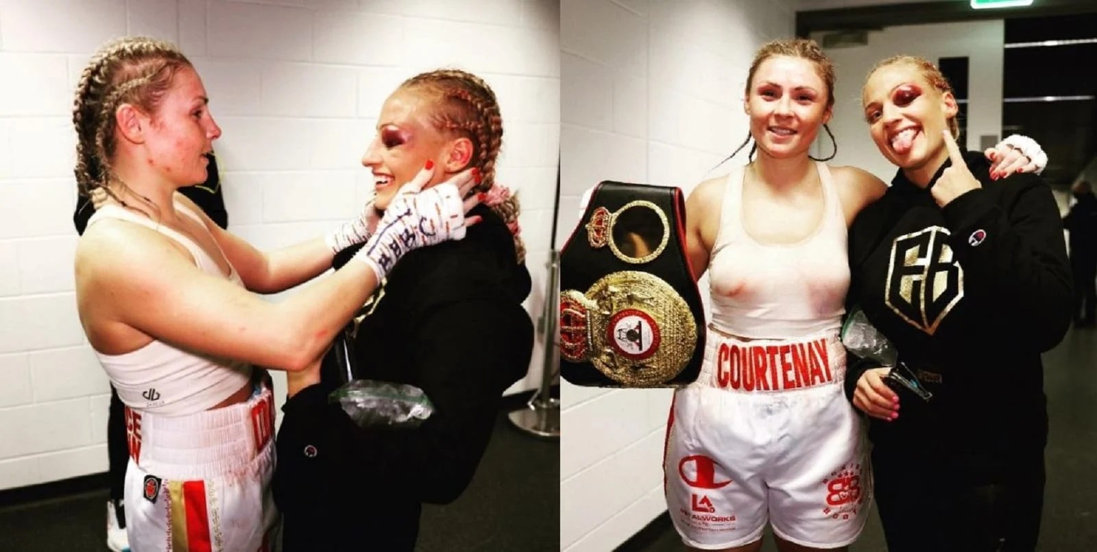Blonde Boxing Bombshell and New World Champ Show What Boxing Is All About