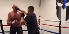 Heavyweight Champion Spars With A Fight Legend
