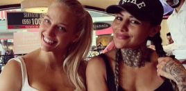 blonde boxing bombshell goes to mexico