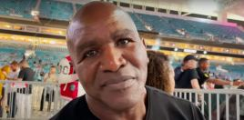 Evander Holyfield Reacts To Mayweather Paul