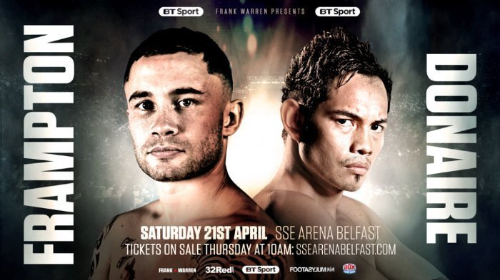 Frampton vs Donaire – April 21 – Belfast, Ireland @ Belfast, Ireland | Belfast | Northern Ireland | United Kingdom