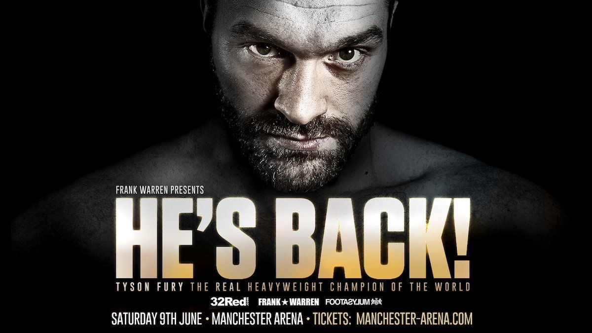 Fury vs TBA – June 9 – Manchester