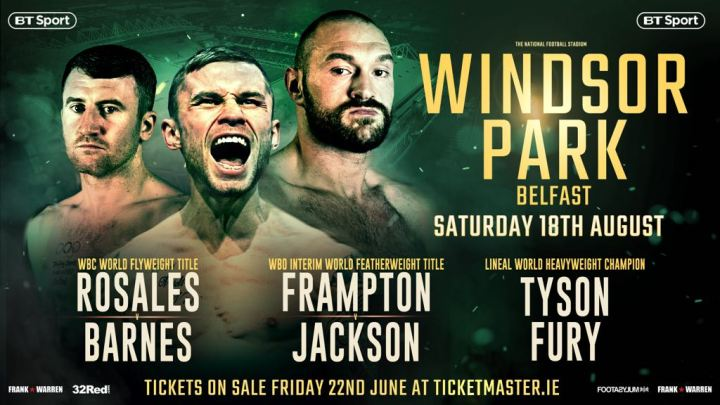 Frampton vs Jackson - August 18 - Belfast @ Belfast | Belfast | Northern Ireland | United Kingdom