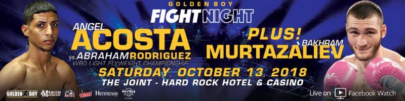 Acosta vs. Rodriguez -  October 13 -  Las Vegas @ Las Vegas | Las Vegas | Nevada | United States
