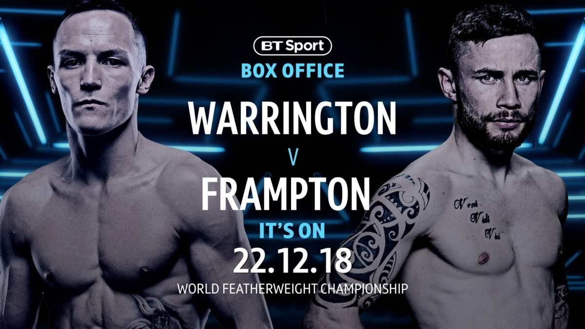 Warrington vs Frampton - December 22 - Manchester @ Manchester | Manchester | England | United Kingdom