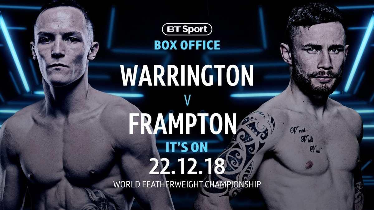 Warrington vs Frampton – December 22 – Manchester