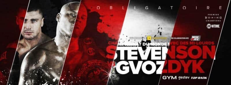 Stevenson vs Gvozdyk - December 1 - Quebec @ Quebec | Quebec | Canada