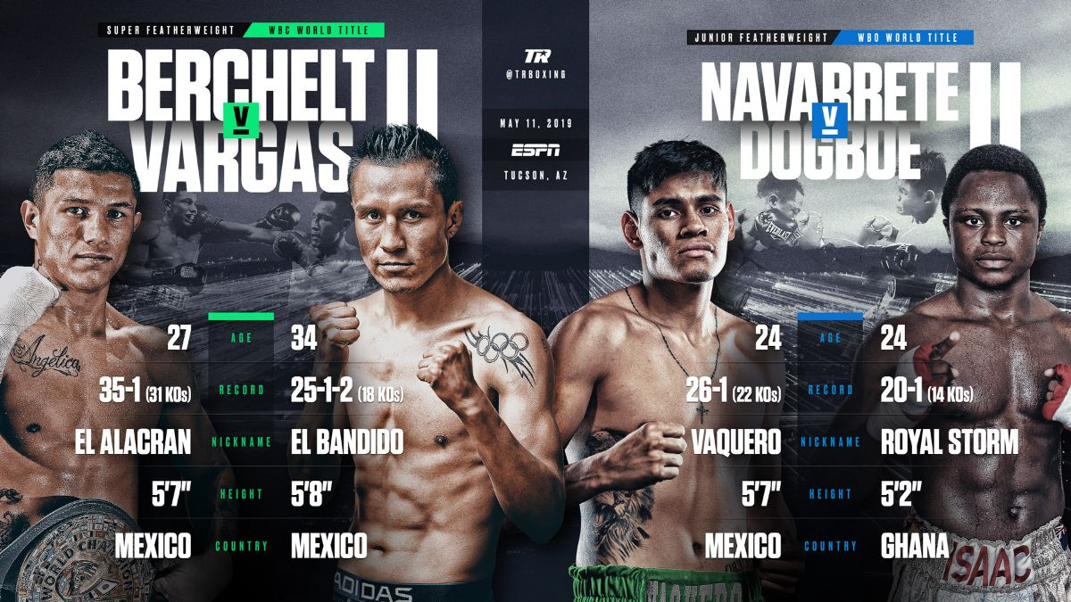 Berchelt vs Vargas 2 - May 11 - ESPN @  Tucson Arena | Tucson | Arizona | United States