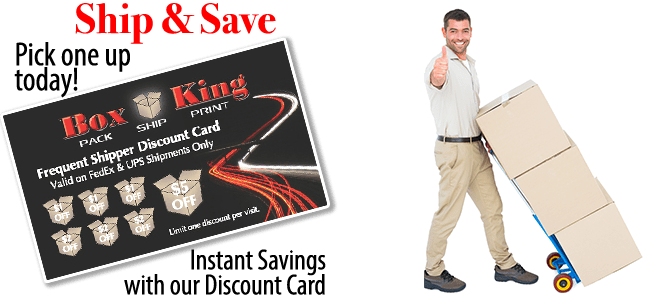 Box King discount shipping card