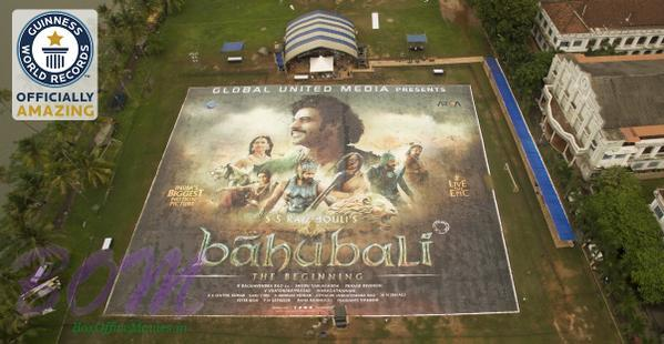 Bahubali largest poster Guinness World Records