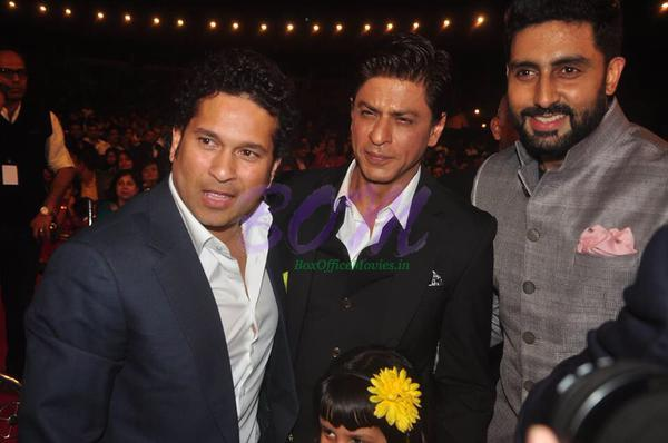 Sachin Tendulkar, Shahrukh khan and Abhishek Bachchan during Umang show