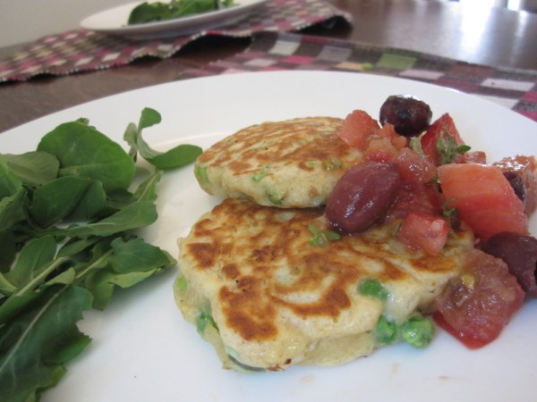 Broad bean and pea frittatas