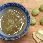 Hot gooseberry and ginger sauce