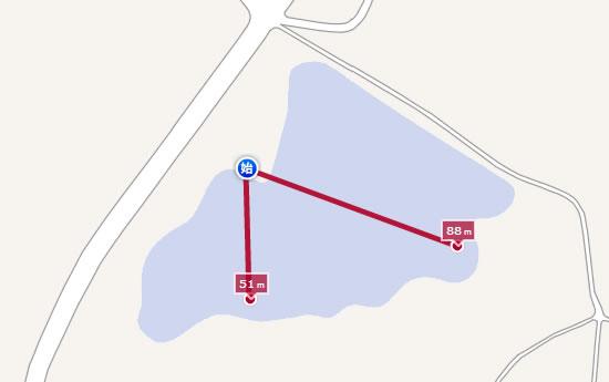 WEB地図で距離を測れるMapion02