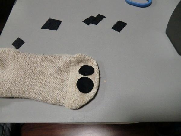 靴下補修パッチ