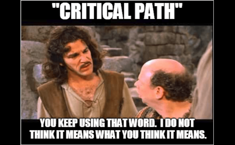 The Difference between Critical Tasks and Critical Paths in Project Schedules