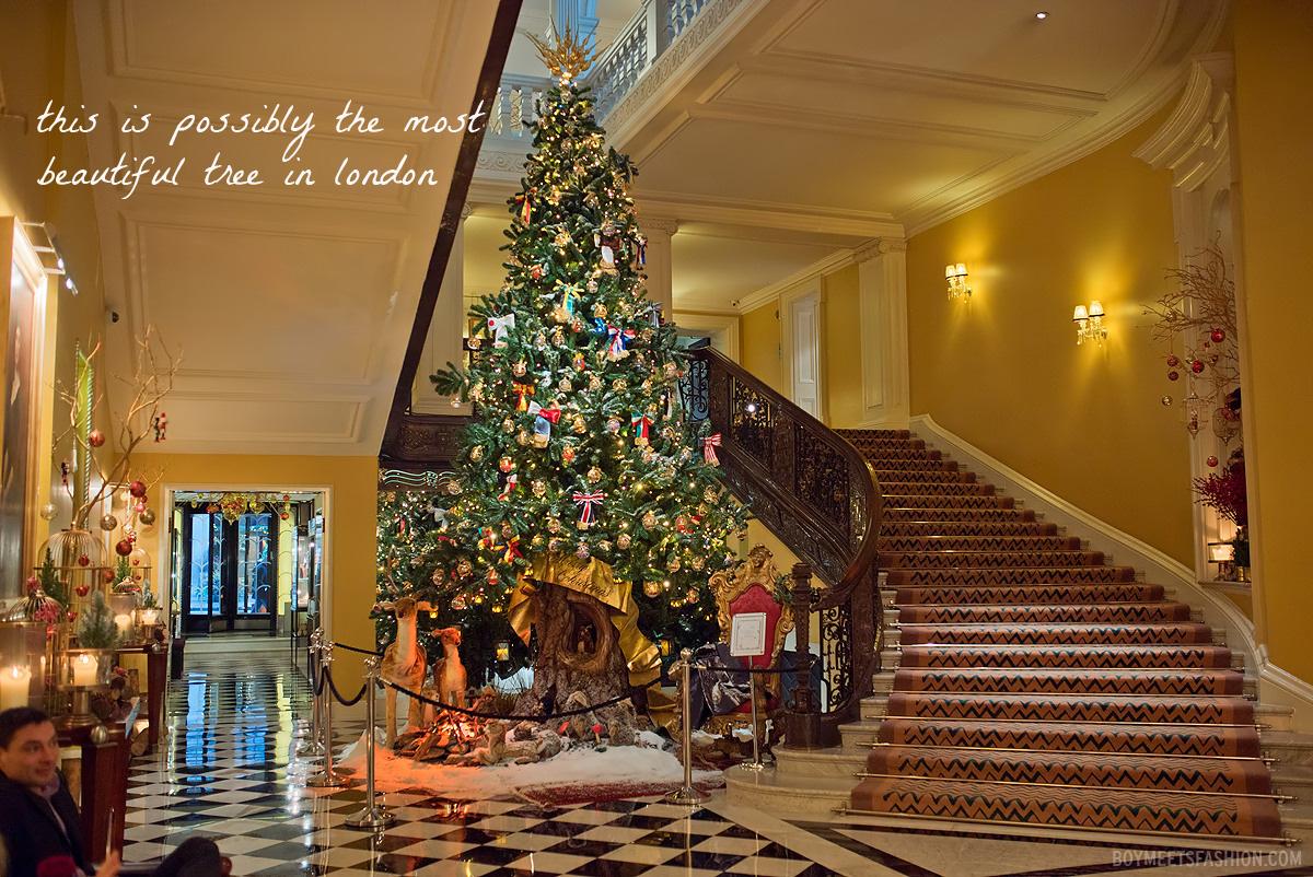The Christmas Tree At Claridges 2014 Boy Meets Fashion