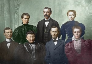 Major Nathan S. Boynton (center, seated) and his family.