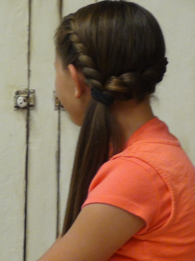 french braid twist side ponytail | boys and girls hairstyles