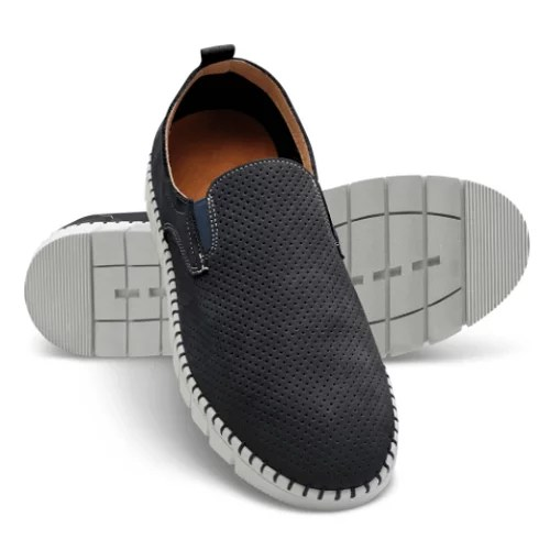 Breathable Comfort Leather Slip Ons