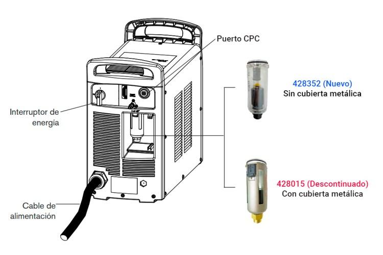 Actualización de recipiente para filtro de aire de Powermax65, 85, 105 y 125