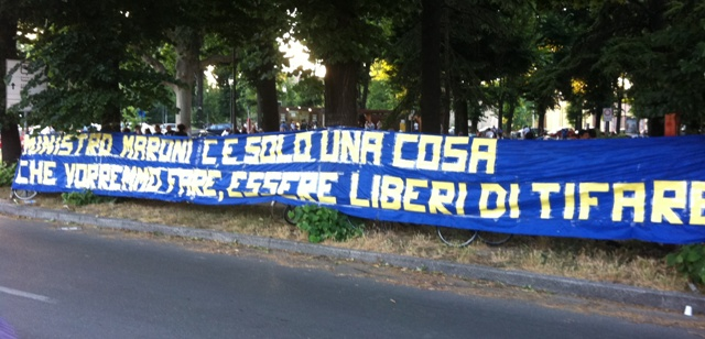 Striscione Boys Parma