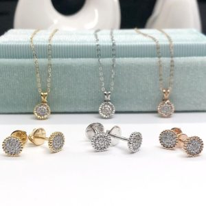 Ava Natural Diamond Earrings And Necklace Set