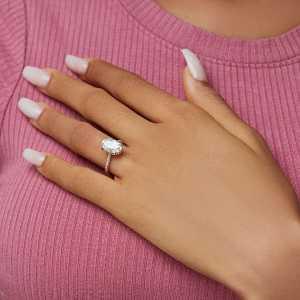 Anita oval Moissanite engagement ring