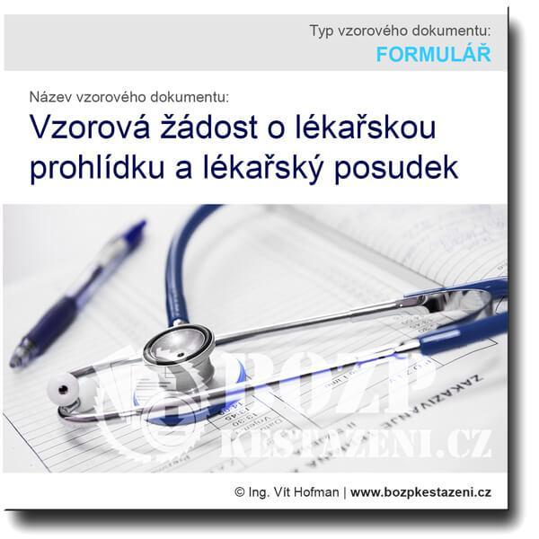 Vzorová žádost o lékařskou prohlídku a lékařský posudek