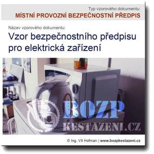 Vzor předpisu pro elektrická zařízení