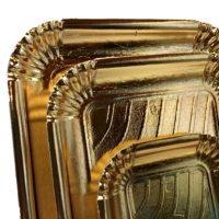 BP vassoio pasticceria elegano bordo largo Oro 03