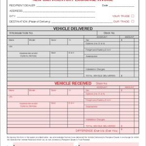 8177-r1404 New Car Inventory Exchange Invoice