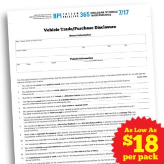 Notice Of Transfer And Release Of Liability >> Notice Of Transfer And Release Of Liability Bpi Dealer Supplies